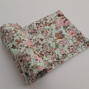 Floral flannel,swaddling receiving blanket